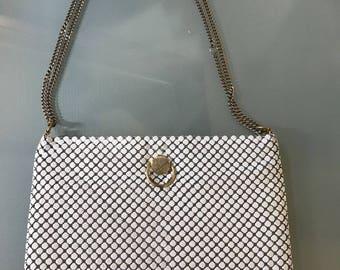 Unique Vintage White Chain Mail Handbag
