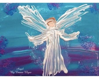 "11x17"" art poster print - ""Angel for G.G."" by Emma Elyse"