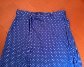 Vintage Blue Spotty Skirt Size 10-12 UK