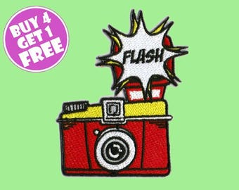 Photo Patches Camera Patches Iron On Patch Embroidered Patch Photography Flash