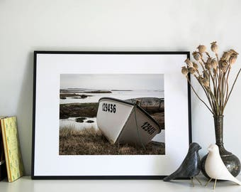 Fishing Boat near Newtown, Newfoundland, Photographic Print, 11x14