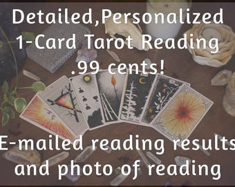 Detailed & Personalized 1-Card Tarot Reading From Empath Witch