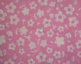 "Kids fabric / baby pink theme ""Flowers"""