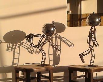 Iron walking man & Iron man standing