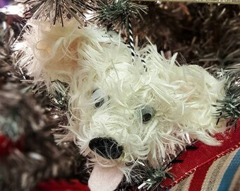 Fluffy Dog / Puppy Ornament - 4 styles to choose from