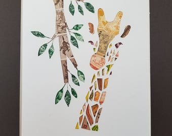 Postage Stamp Collage - Giraffe