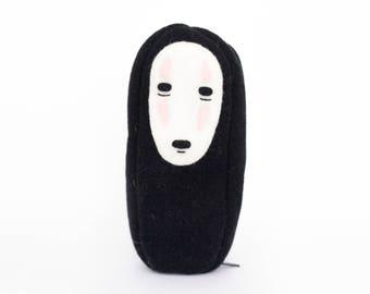 Kaonashi (No Face) Studio Ghibli Kawaii Sewn Felt Pencil Case / Purse / Pouch / Bag