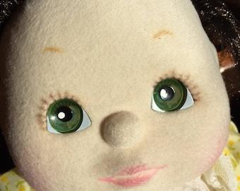 Mattel My Child 1985 Doll Brown Hair Green Eyes All Original Minty Condition