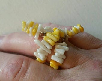 Yellow & White Coral Ring