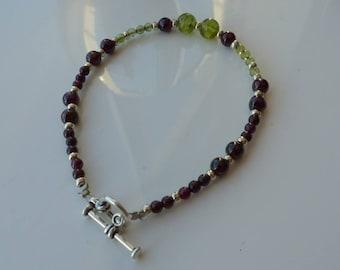 Bracelet Garnet Peridot