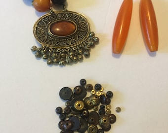 Vintage Tibetan Necklace - PARTS ONLY