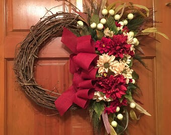 Fall for Red (fall wreath)