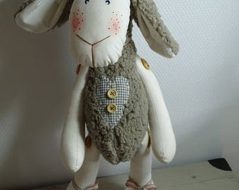 Cute sheep Brown and ecru