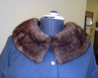 Mink Fur Collar Vintage  Detachable Coat Collar for Upcycling  Beautiful Great Shape