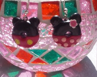 Mickey and mini donuts earring