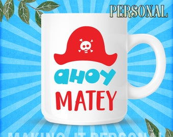 Ahoy Matey Personalised Mug Gift Idea