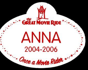 Great Movie Ride Nametag