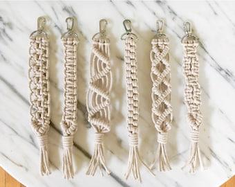 100% Cotton Rope Macramé Keychain