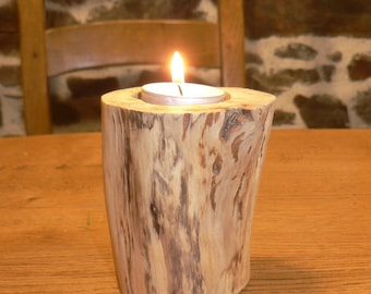 """""""Threads"""" Driftwood candle holder"""