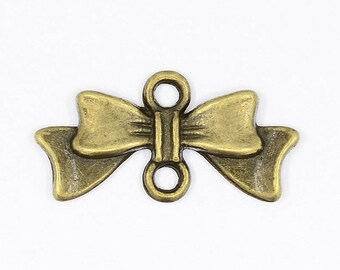 4 bronze bow connectors