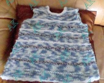 Girl 9-12 months, hand knitted dress