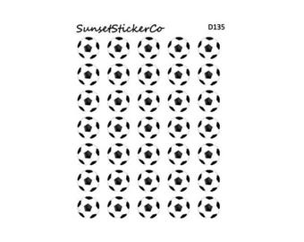 Soccer Ball Icon Stickers (D135)
