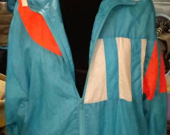 Vintage- 1980's- windbreaker jacket.