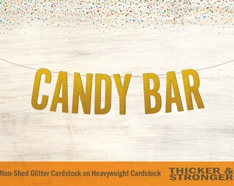 Candy Bar Banner, Block Letters - Wedding Banner, Candy Bar Sign, Wedding Sign, Candy Buffet Sign