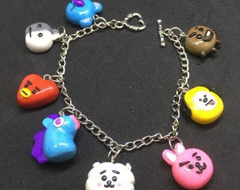 방탄소년단 BTS Bangtan BT21 Unofficial Charms | Hand Made | K-POP Bracelet