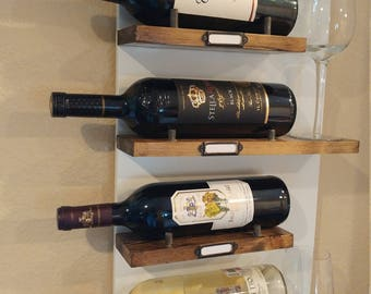 Stacked Mounted Wine Rack