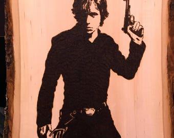Luke Skywalker Wood Burn