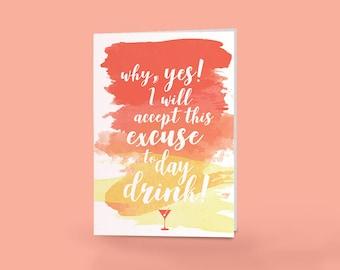 Day Drinking Funny Birthday Card