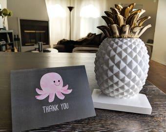 Octopus Thank You Card