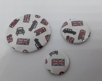 Whole set of 3 magnets in paper patterns British Union Jack 3 different sizes