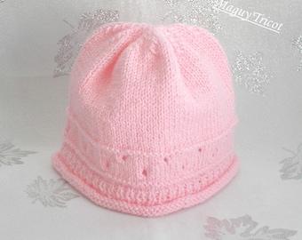 Thier baby Hat pink birth to 3 months