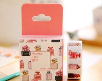 Masking tape perfume bottles