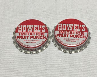 Howel's Imitation Fruit Punch Crown/Bottle Cap - Cork Composition - Unused - Pittsburgh, PA