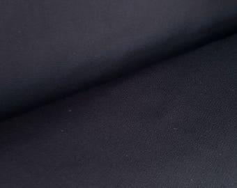 Black 380 GSM Rayon Nylon Ponte Roma Stretch Knit
