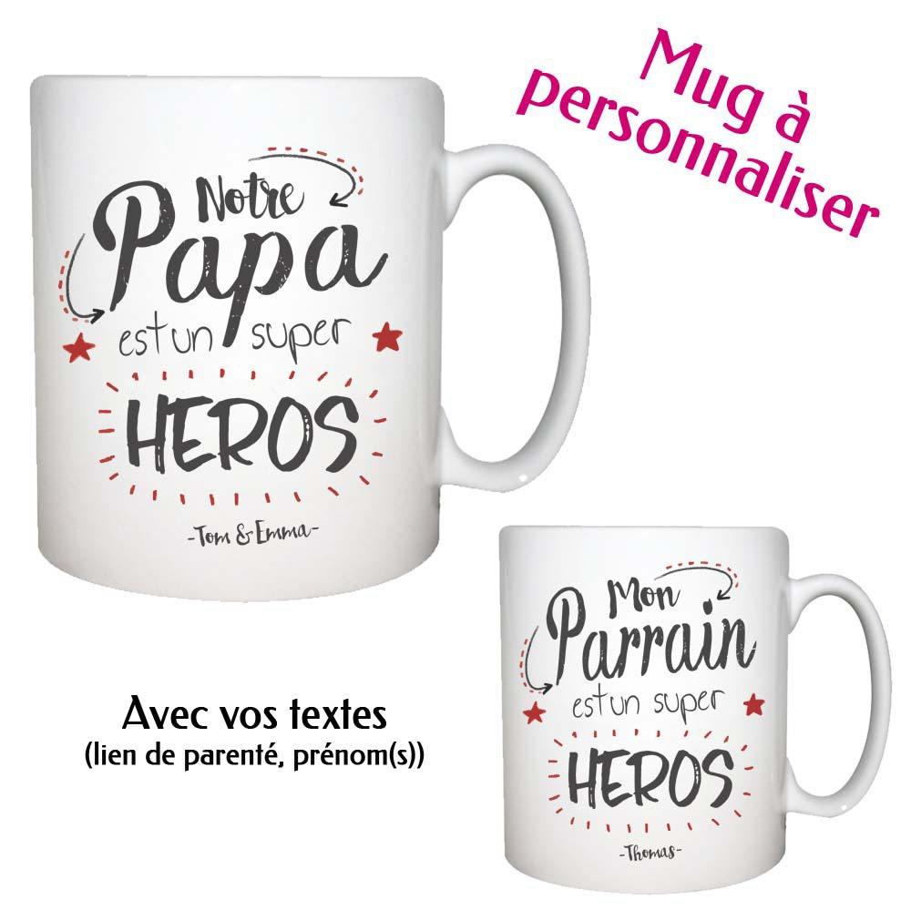 Bien-aimé Mug personnalisé Modèle Super Héros pour papa WI55