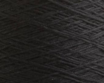 Dark blue yarn on a cone bobbin yarn knitting yarn crochet yarn hand knitting yarn viscose yarn navy blue yarn mazarine yarn cotton yarn