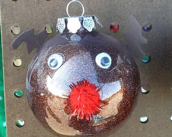Large rudolph red nosed reindeer ornament
