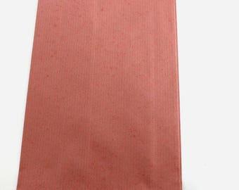 10 POUCHES gift paper - Kraft Dim:12x20mm - Brown # EMBGF2
