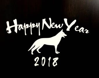 2018 happy new year vinyl sticker decal