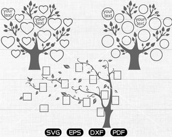 Tree SVG, Photo frame Clipart, cricut, silhouette cut files commercial use