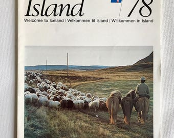 Vintage travel magazine // 1978 Welcome to Iceland magazine // vintage Iceland magazine
