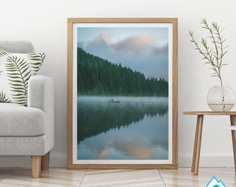 Morning Reflection, Printable Art, Digital Download, Inspirational, Motivational, Minimalistic