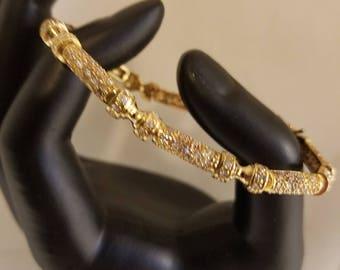 925 Silver rhinestone bracelet marked J