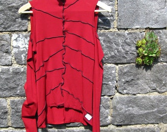 """Sweater """"Estrella"""" sleeved Jersey - Red - size: S"""