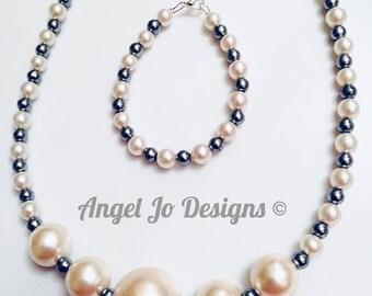 Theresa Bracelet and Necklace Set