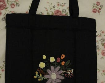 Women bag with flowers